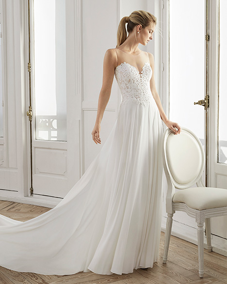 ELDUA Wedding                                          dress by Aire Barcelona Bridal