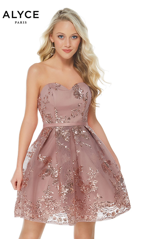 2650 (Rosewood) Prom dress by Alyce Paris: Semi Formal