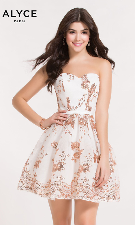 2650 (White Rose Gold) Prom dress by Alyce Paris: Semi Formal