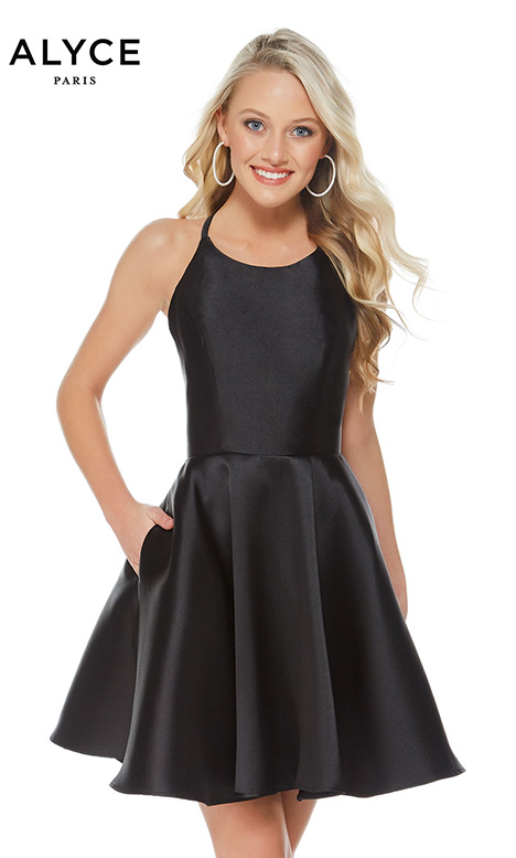 3703 (Black) Prom                                             dress by Alyce Paris: Semi Formal