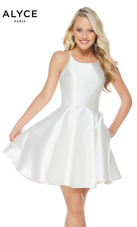 3703 (Diamond White) Prom                                             dress by Alyce Paris: Semi Formal