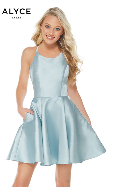 3703 (Ice Blue) Prom                                             dress by Alyce Paris: Semi Formal