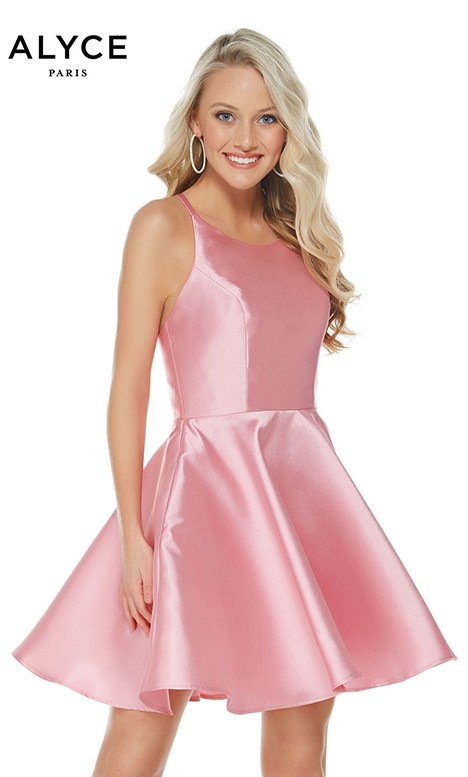 3703 (Pink) gown from the 2018 Alyce Paris: Semi Formal collection, as seen on dressfinder.ca