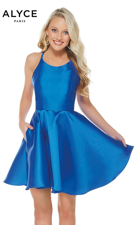 3703 (Royal) Prom                                             dress by Alyce Paris: Semi Formal