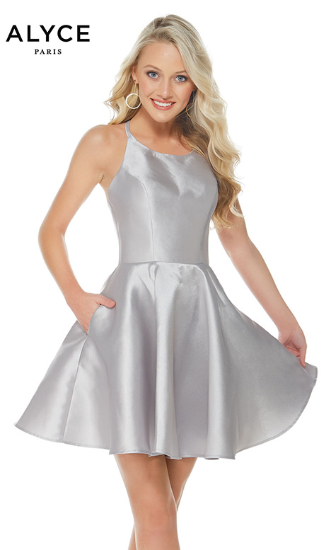 3703 (Silver) Prom                                             dress by Alyce Paris: Semi Formal
