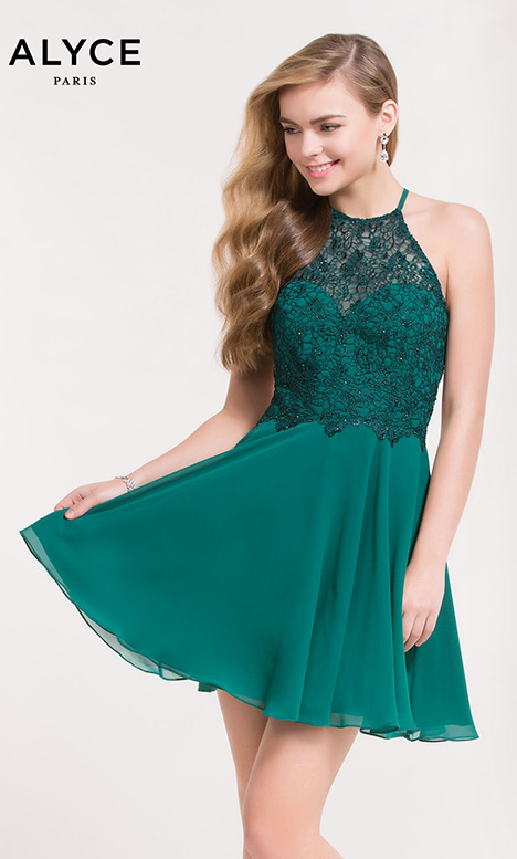 3717 (Seagreen) gown from the 2018 Alyce Paris: Semi Formal collection, as seen on dressfinder.ca