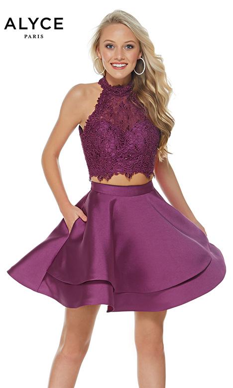 3735 (Black Plum) Prom                                             dress by Alyce Paris: Semi Formal