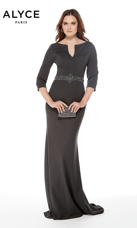 27007 (Charcoal) Mother of the Bride                              dress by Alyce Paris: JDL Collection