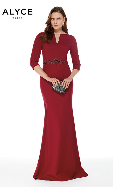 27007 (Wine) Mother of the Bride                              dress by Alyce Paris: JDL Collection