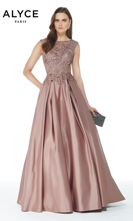 27010 (Rose Taupe) gown from the 2018 Alyce Paris: JDL Collection collection, as seen on dressfinder.ca