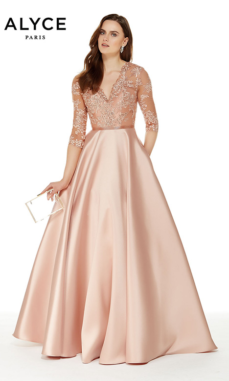 27023 (Bisque) Mother of the Bride                              dress by Alyce Paris: JDL Collection