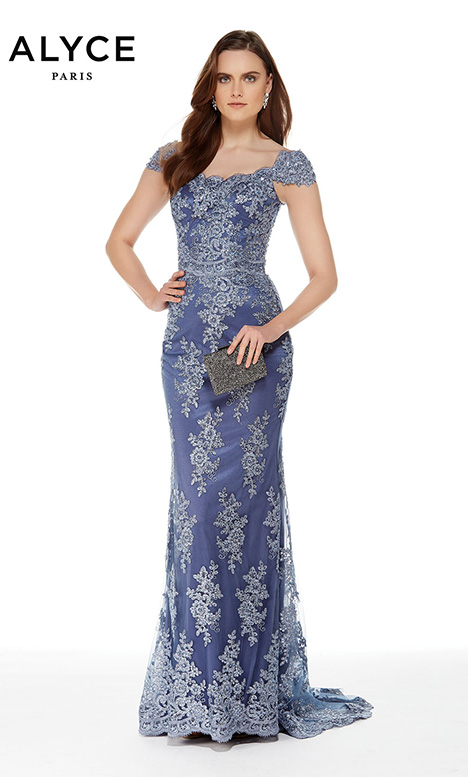 27042 (Periwinkle) Mother of the Bride dress by Alyce Paris: JDL Collection