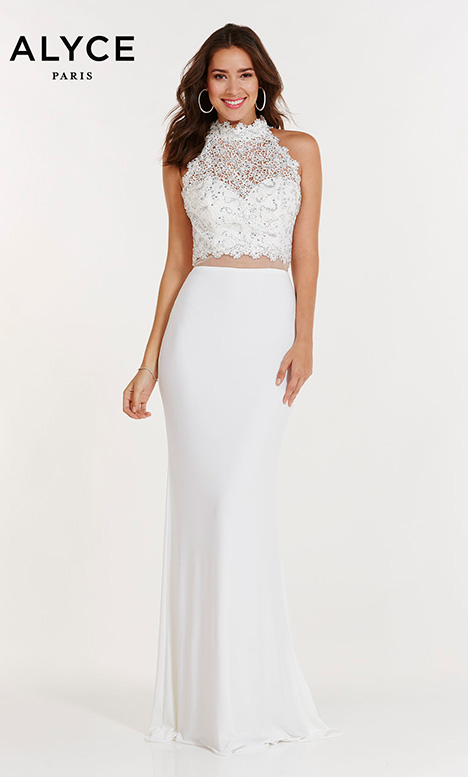 6737 (Ivory) Prom                                             dress by Alyce Paris
