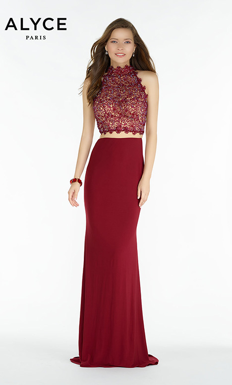 6737 (Wine) Prom                                             dress by Alyce Paris