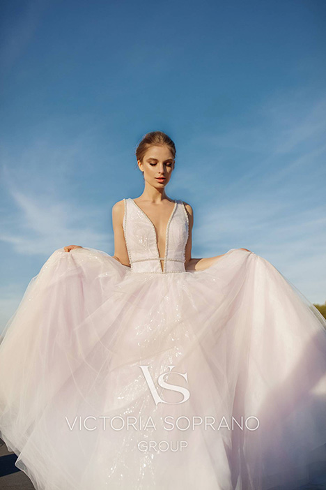 Arville Wedding                                          dress by Victoria Soprano