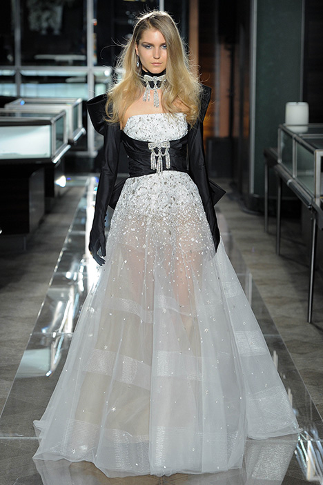 Look 1 Treasured Wedding                                          dress by Reem Acra