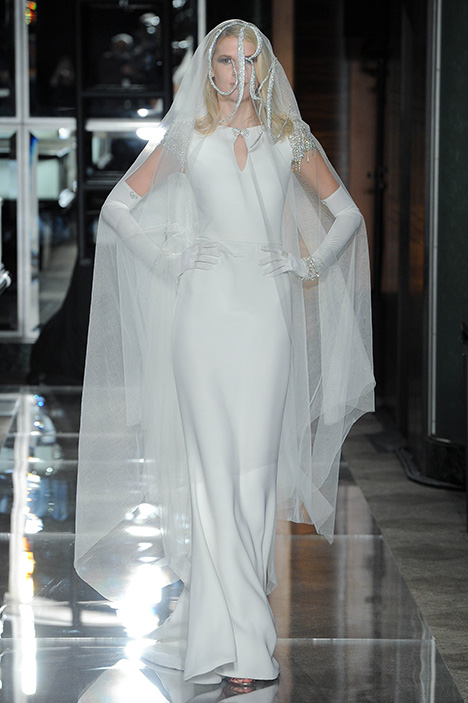 Look 10 Sophisticated Wedding                                          dress by Reem Acra
