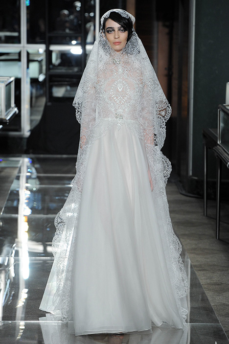 Look 12 Extravagant Wedding                                          dress by Reem Acra