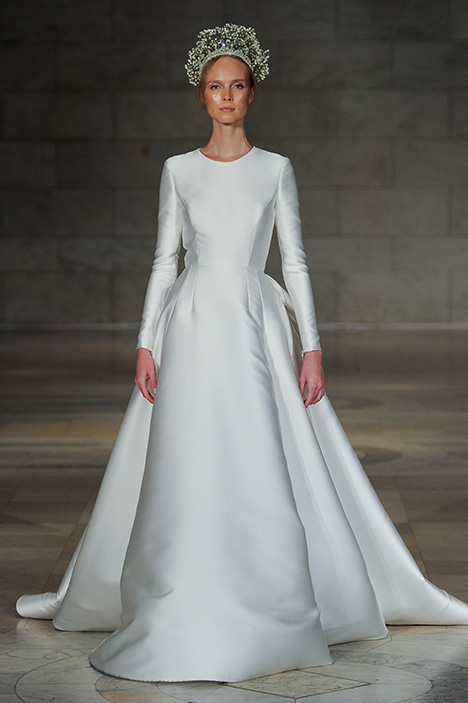 Look 1 Captivating Wedding                                          dress by Reem Acra