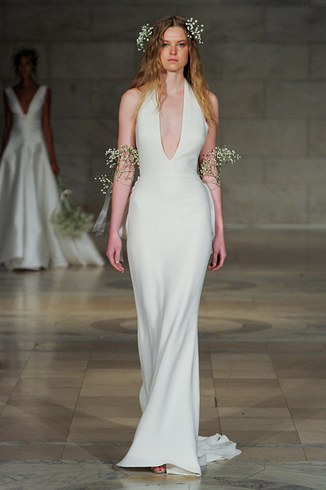 Look 5 Flirtatious Wedding                                          dress by Reem Acra