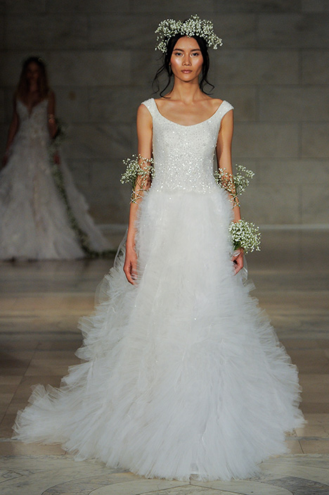 Look 12 Marvel Wedding                                          dress by Reem Acra