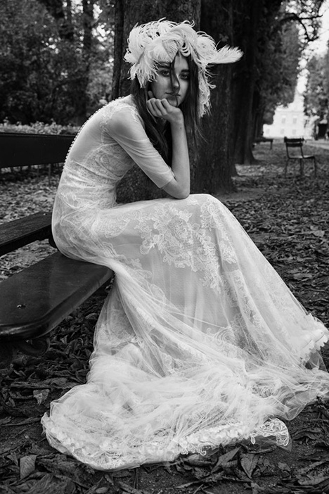 Eliane Wedding                                          dress by Vera Wang
