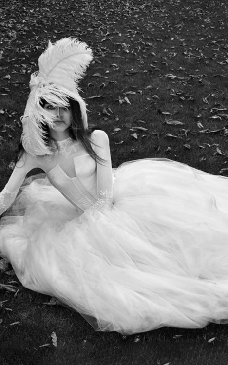 Frederique Wedding                                          dress by Vera Wang