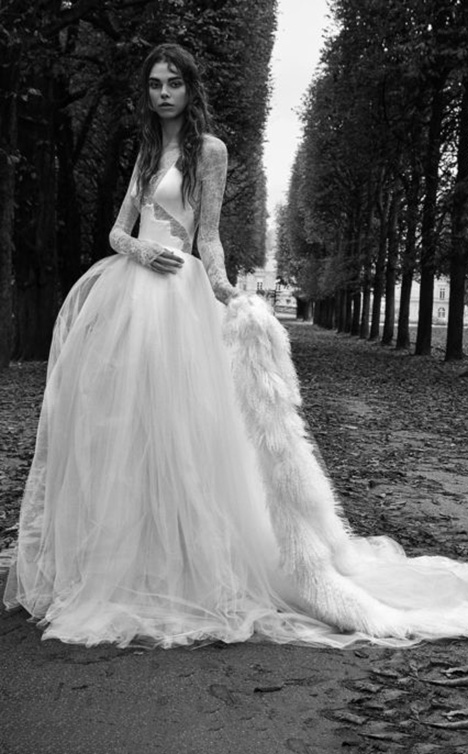 Sabrine Wedding                                          dress by Vera Wang