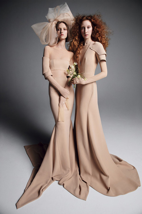 YULIA + OKSANA Wedding                                          dress by Vera Wang