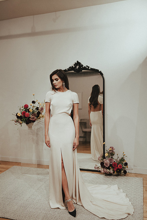 Kir gown from the 2018 Sarah Seven collection, as seen on dressfinder.ca