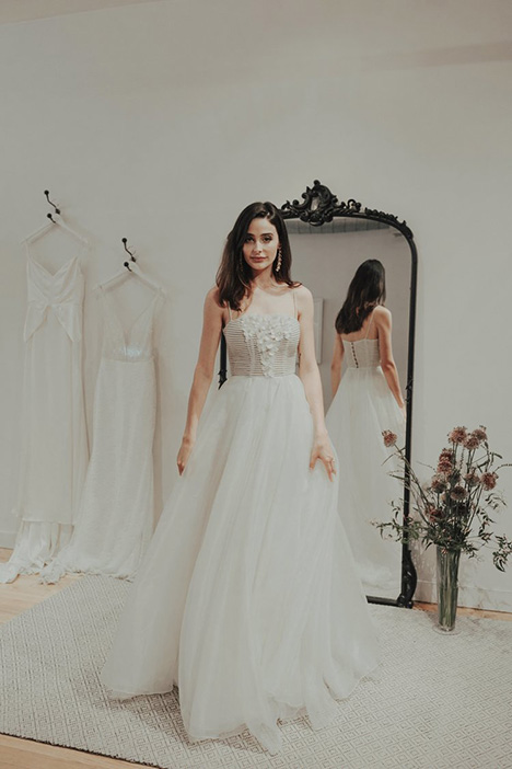 Dynesty gown from the 2018 Brides by Sarah Seven collection, as seen on dressfinder.ca