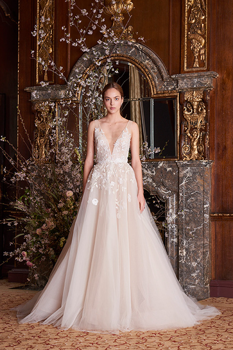 Clementine Wedding                                          dress by Monique Lhuillier