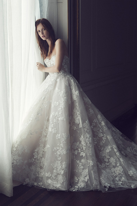 Easton Wedding                                          dress by Monique Lhuillier