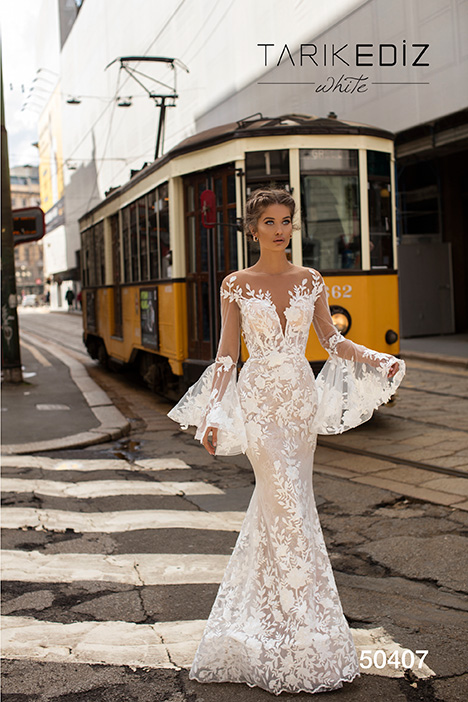 50407 Wedding                                          dress by Tarik Ediz: White