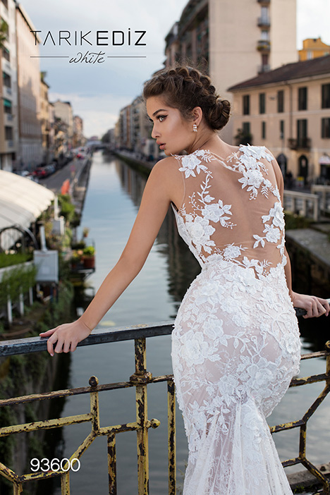 93600 (back) Wedding                                          dress by Tarik Ediz: White