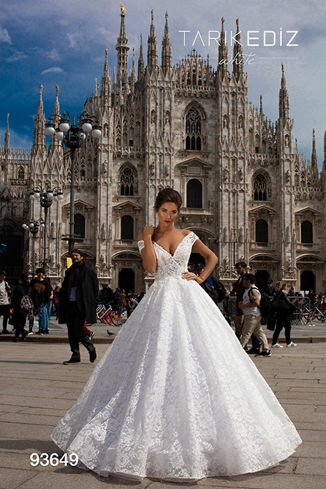 93649 Wedding                                          dress by Tarik Ediz: White