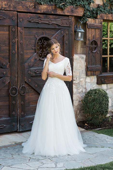 Wedding                                          dress by Modest by Mon Cheri