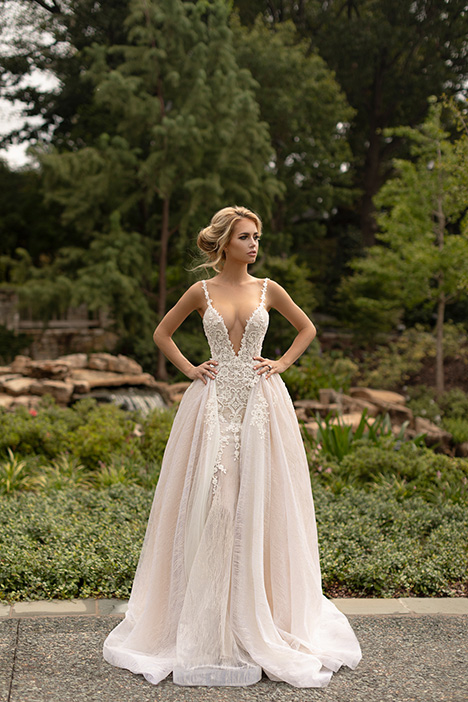 Brilliant (+ overskirt) gown from the 2019 Naama Anat collection, as seen on dressfinder.ca