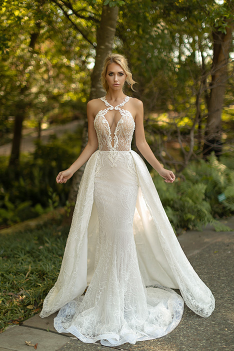 Stylish (+ overskirt) Wedding                                          dress by Naama Anat