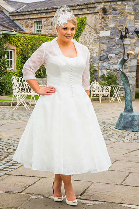 BBP18721 (coat) Wedding                                          dress by Bridalane: Beautiful Brides Plus