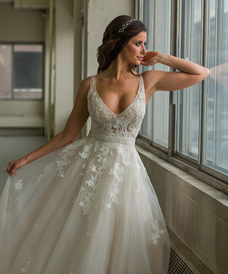 800 (close) Wedding                                          dress by Bridalane