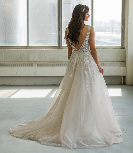 803 (back) Wedding                                          dress by Bridalane