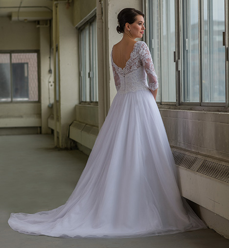 807 (back) Wedding                                          dress by Bridalane