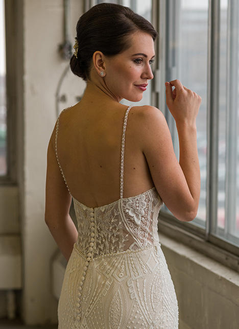 gp1101 (back) Wedding                                          dress by Grace by Bridalane