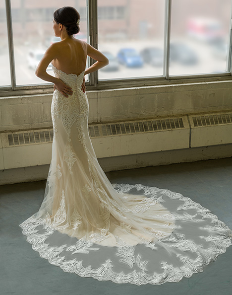 gp1103 (back) Wedding                                          dress by Grace by Bridalane