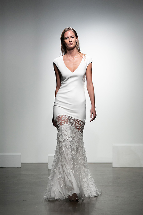Graham Wedding                                          dress by Rime Arodaky Bridal