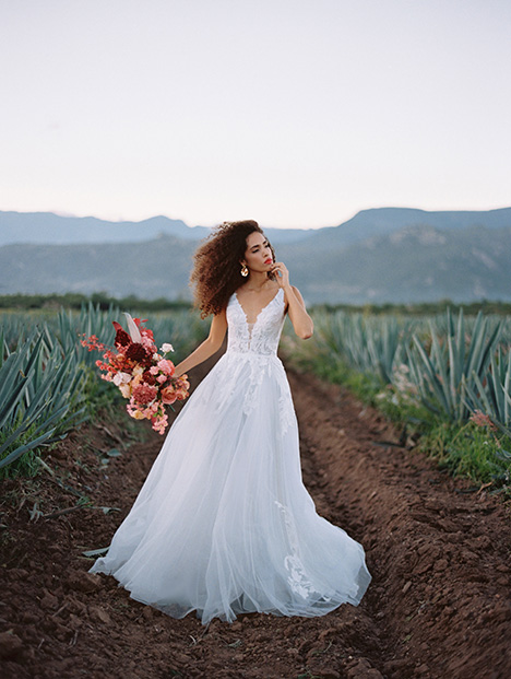 F142 Adara Wedding                                          dress by Wilderly Bride
