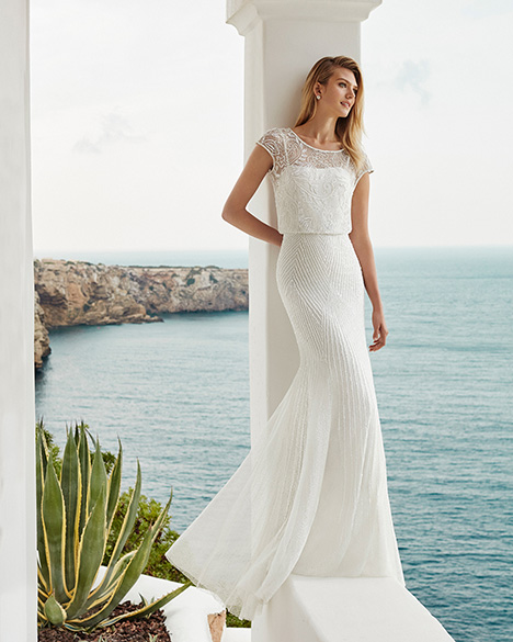 GARAZI Wedding                                          dress by Aire Barcelona Beach Wedding