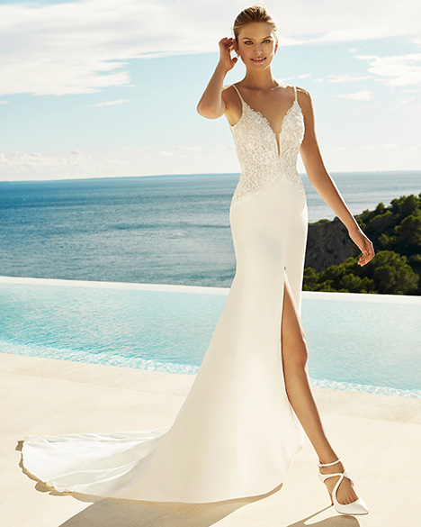 GINES Wedding dress by Aire Barcelona Beach Wedding
