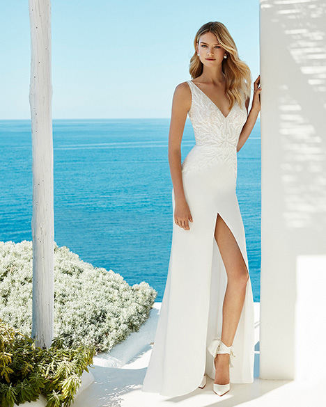 GINETTE Wedding                                          dress by Aire Barcelona Beach Wedding
